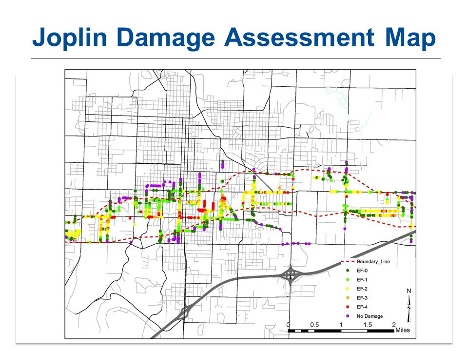 Building Design for Tornadoes – OKSEA March 201314 Joplin Damage Assessment Map