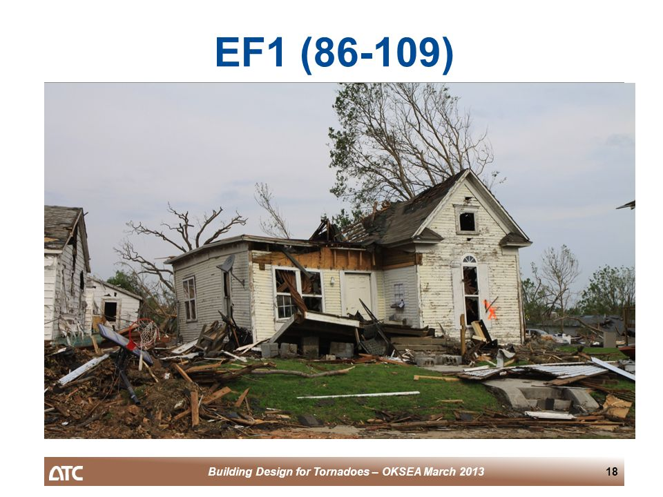 Building Design for Tornadoes – OKSEA March 201318 EF1 (86-109)