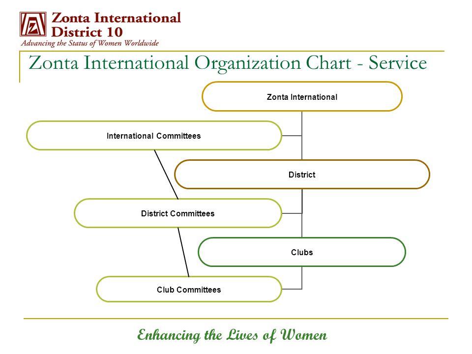 Enhancing the Lives of Women Zonta International Organization Chart - Service
