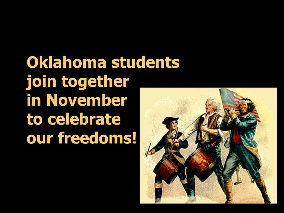 Oklahoma students join together in November to celebrate our freedoms!