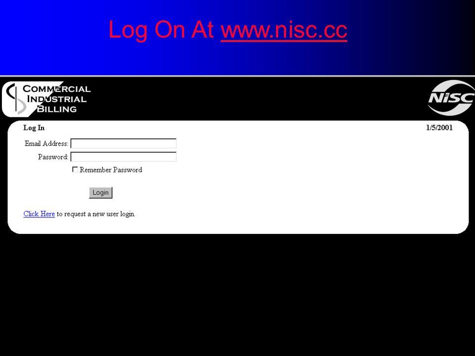 Log On At www.nisc.ccwww.nisc.cc