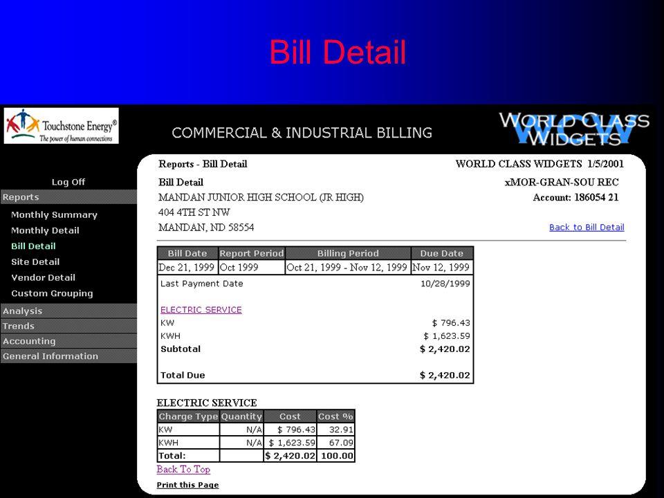 Bill Detail