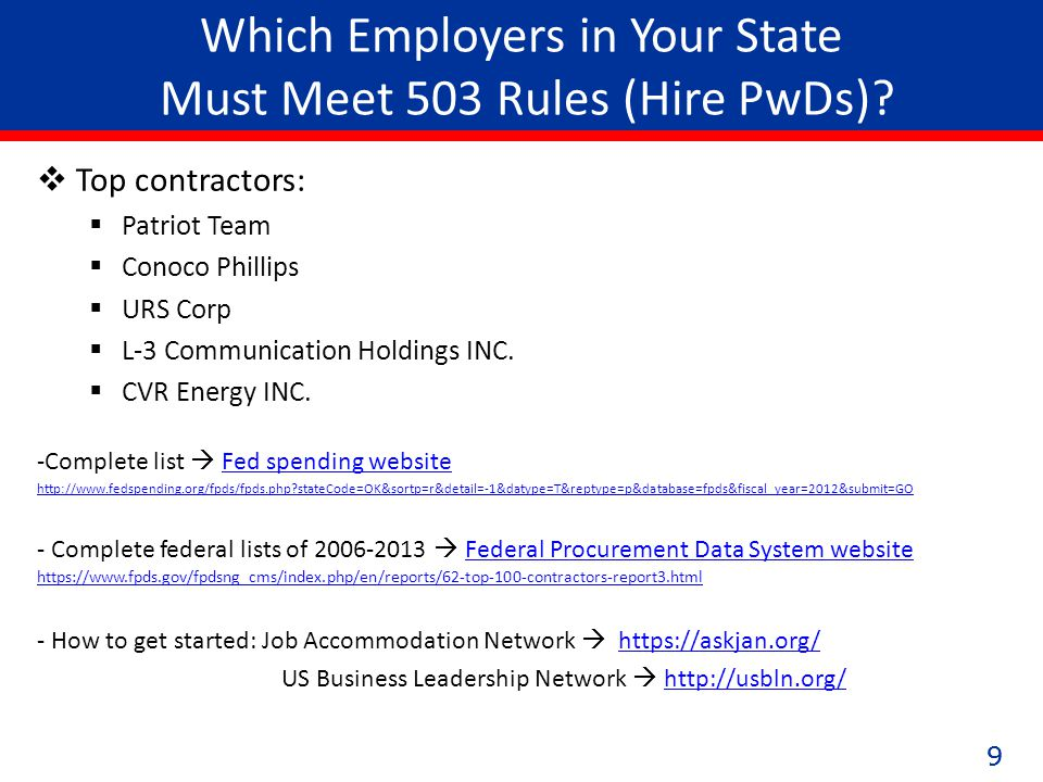 99 Which Employers in Your State Must Meet 503 Rules (Hire PwDs).