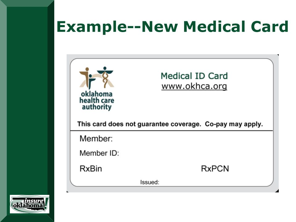 Example--New Medical Card 123456789