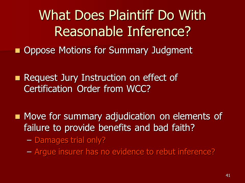 41 What Does Plaintiff Do With Reasonable Inference.