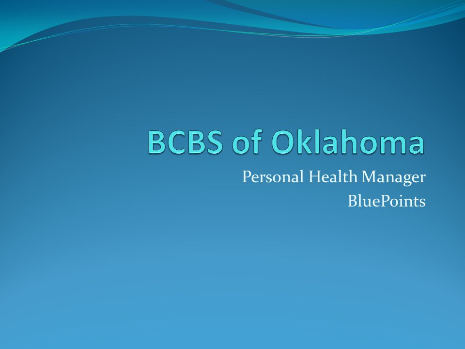 Personal Health Manager BluePoints