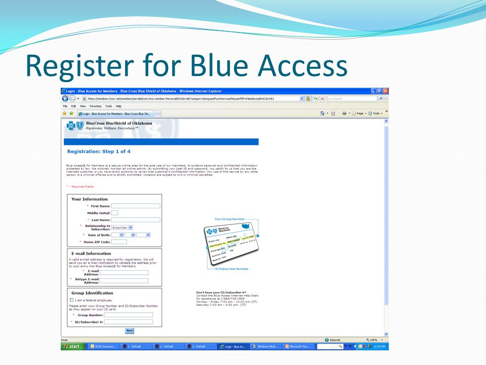 Register for Blue Access