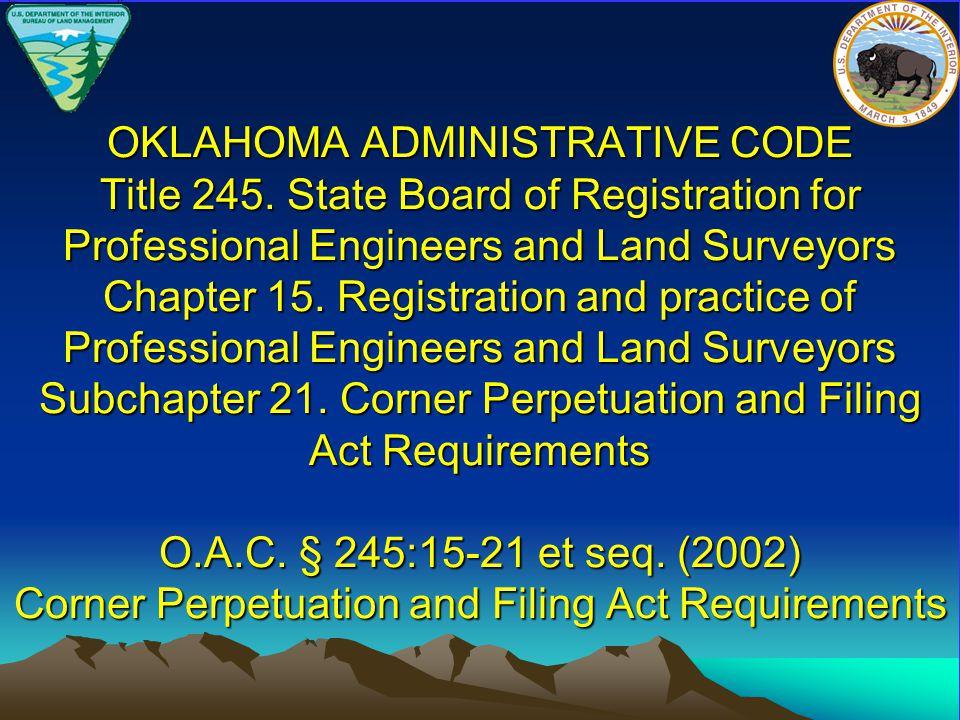 OKLAHOMA ADMINISTRATIVE CODE Title 245.