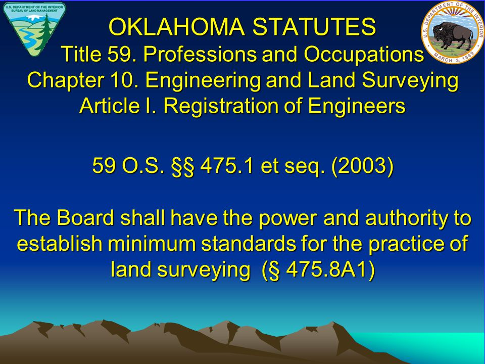 OKLAHOMA STATUTES Title 59. Professions and Occupations Chapter 10.