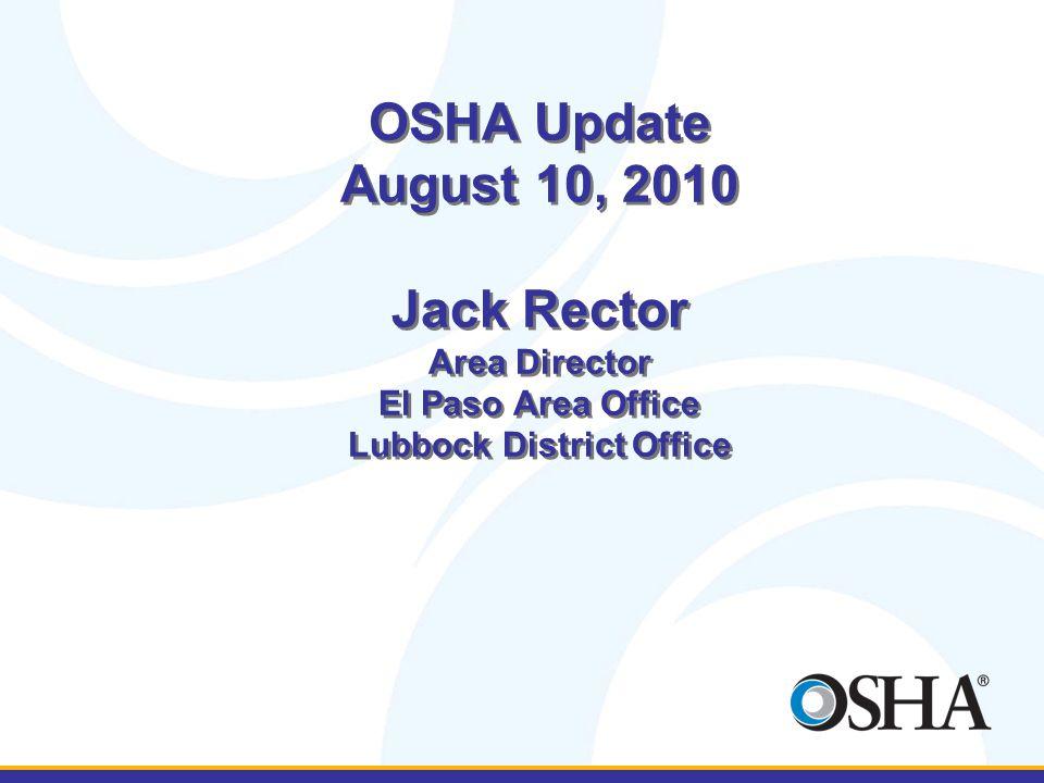 OSHA El Paso Area Office/Lubbock District Office EP: 4849 North Mesa, Suite 200 El Paso, Texas 79912 Phone: (915)534-6251 LB: 1205 Texas Ave., Room 806 Lubbock, Texas 79401 Phone: (806)472-7681 www.osha.gov 1-800-321-OSHA