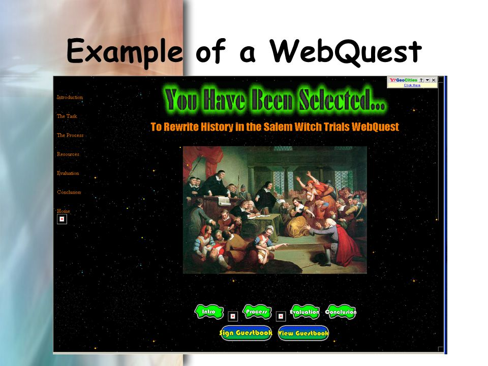Example of a WebQuest