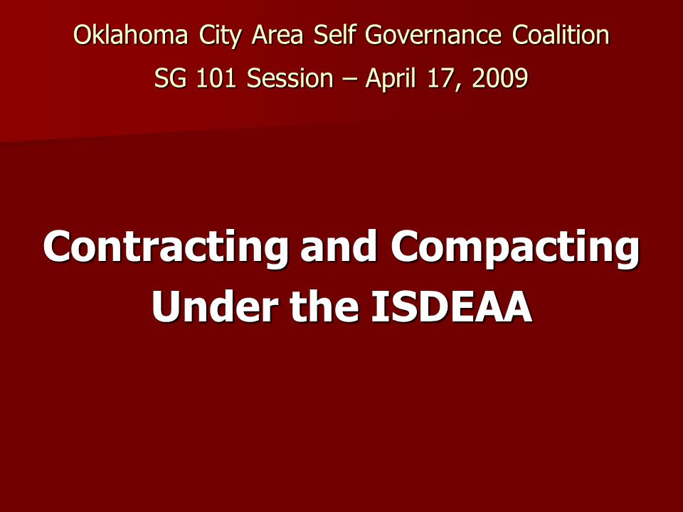 Title IV compacts  Eligibility: Planning phase required.Planning phase required.