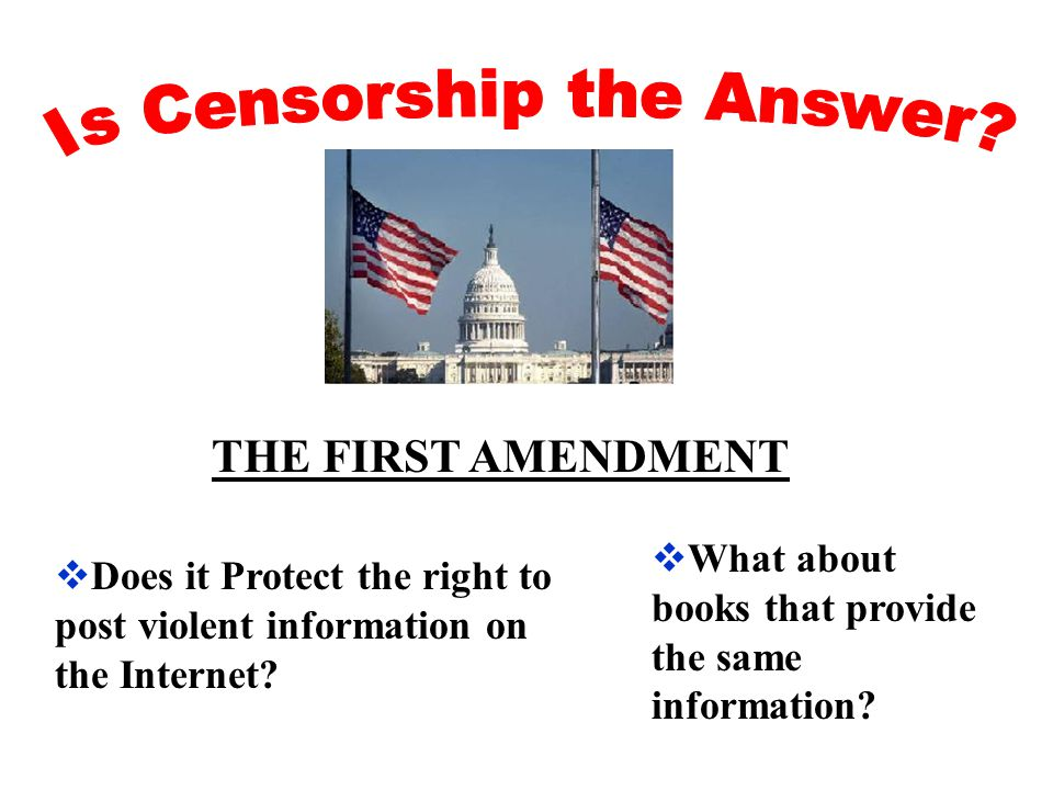  Does it Protect the right to post violent information on the Internet.