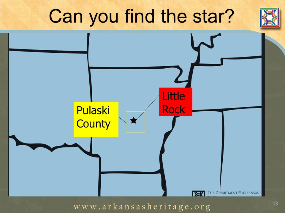 Can you find the star 13 Little Rock Pulaski County