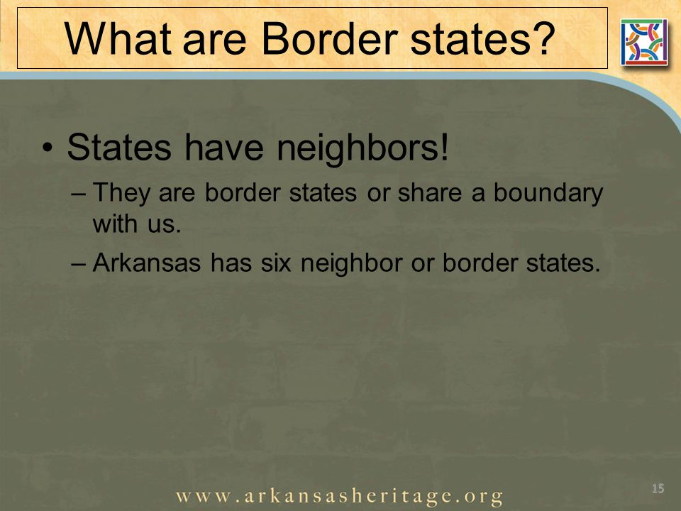 What are Border states. States have neighbors.