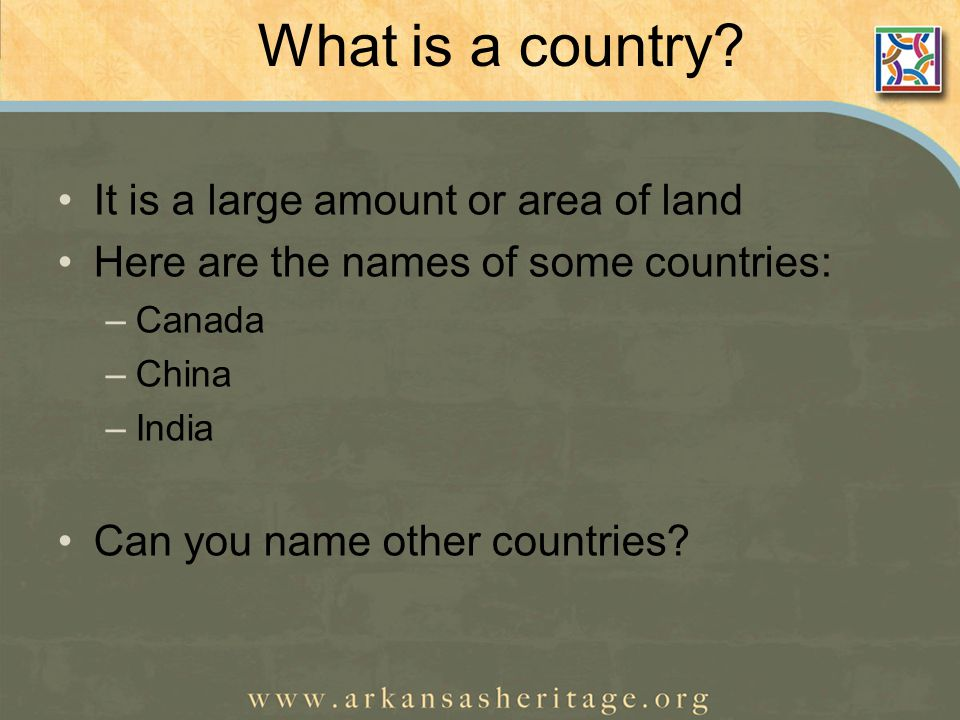What is a country.