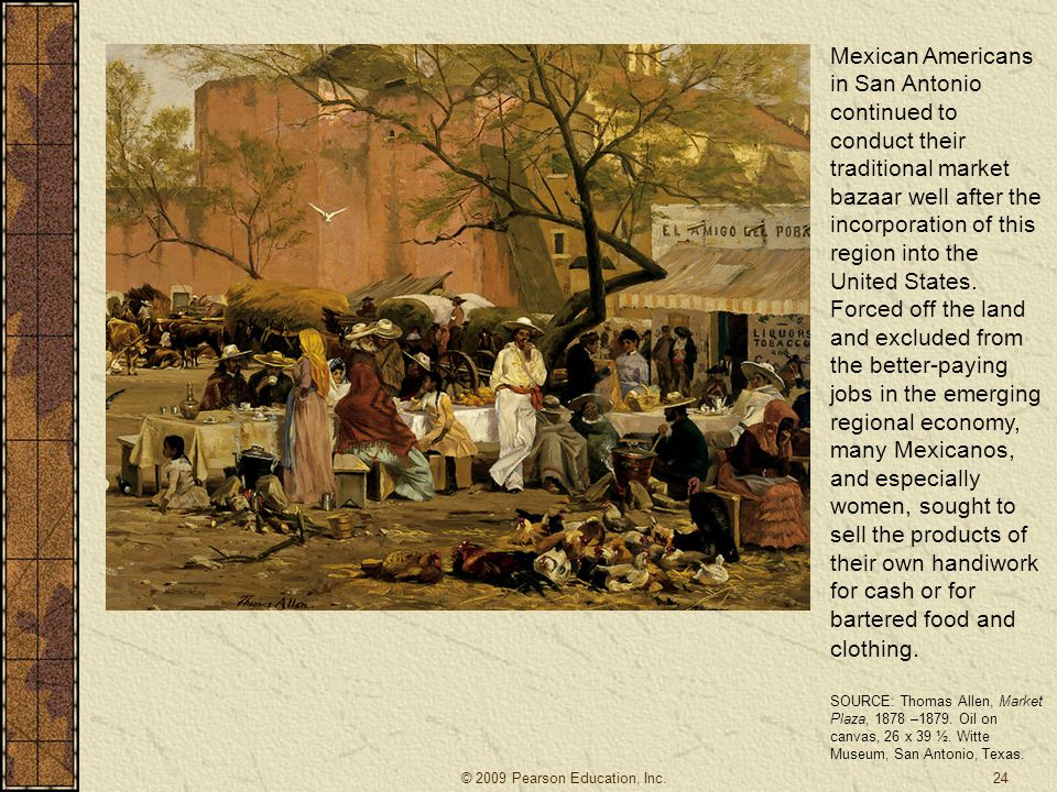 Mexican Americans in San Antonio continued to conduct their traditional market bazaar well after the incorporation of this region into the United Stat