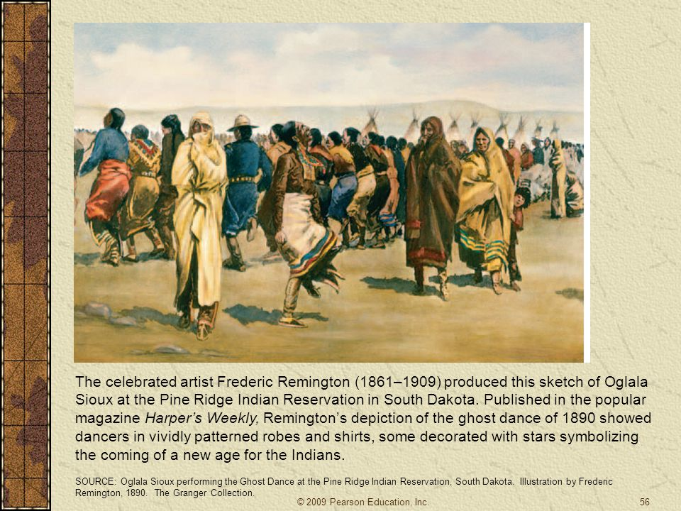 56 The celebrated artist Frederic Remington (1861–1909) produced this sketch of Oglala Sioux at the Pine Ridge Indian Reservation in South Dakota. Pub