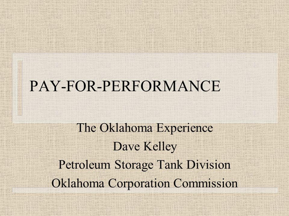 Other benefits of Oklahoma PFP(Pre-approval) program n Tank Owner benefits are: – they get a guaranteed cleanup – they have zero disallowances.