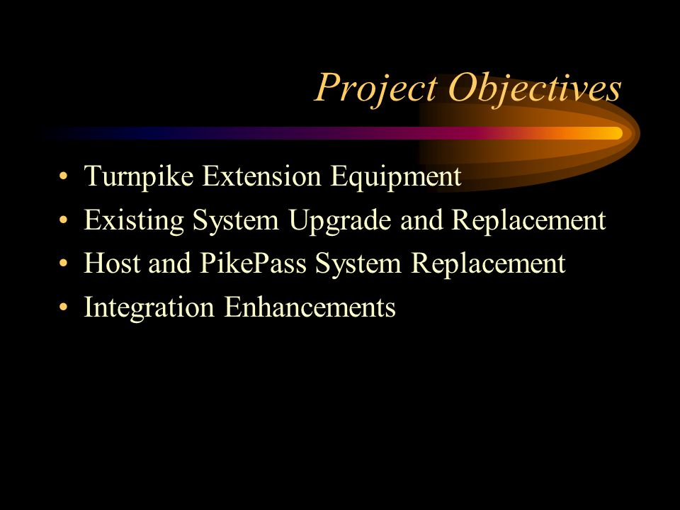 Project Alternatives New ETC System Procurement New VES Procurement Parking Facility and Integration Support