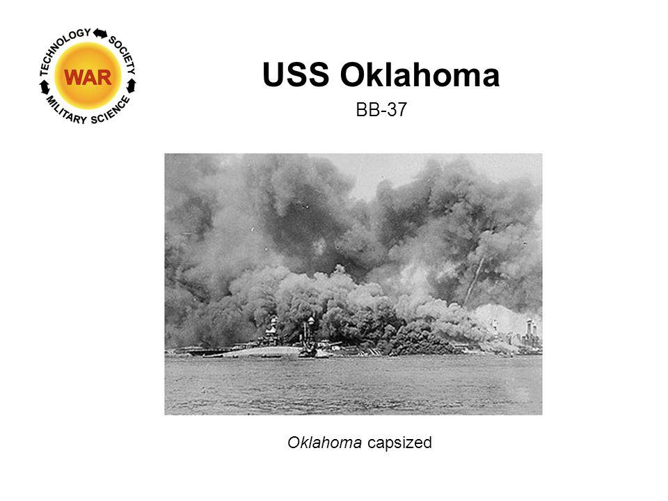 USS Oklahoma BB-37 Oklahoma capsized