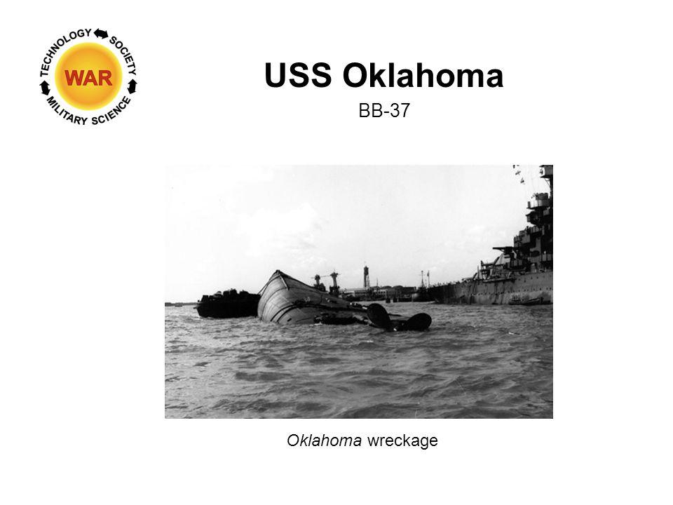 USS Oklahoma BB-37 Oklahoma wreckage