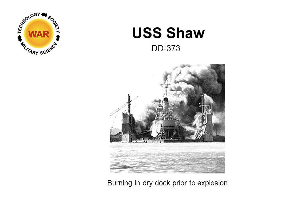 USS Shaw Magazine exploding DD-373