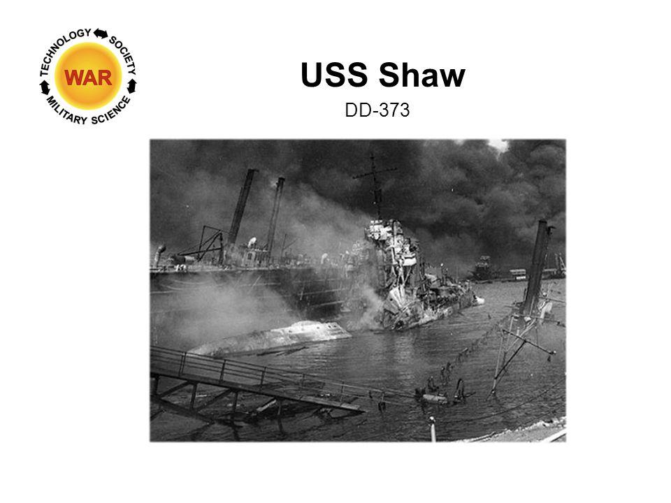 USS Shaw DD-373 Pearl Harbor Naval Shipyard - 10 Dec 1941 USS Shaw upper left Note oil on water