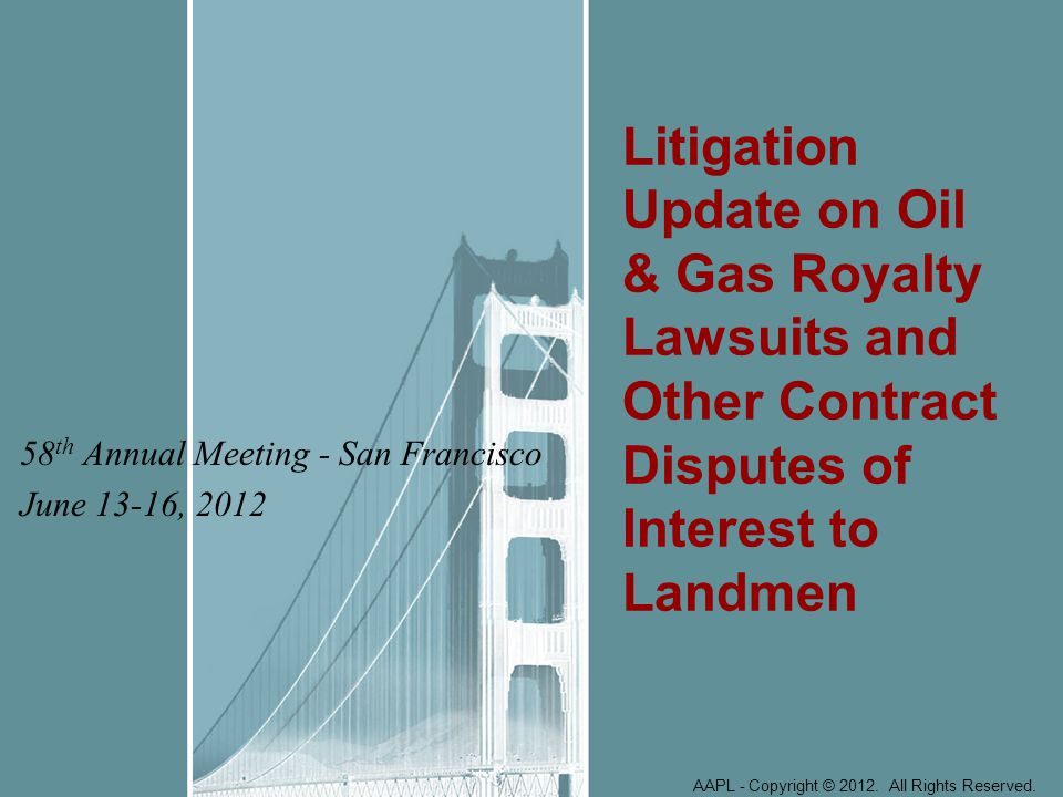 Oil & Gas Litigation Update Judgment on jury verdict in favor of royalty owners is reversed on appeal.