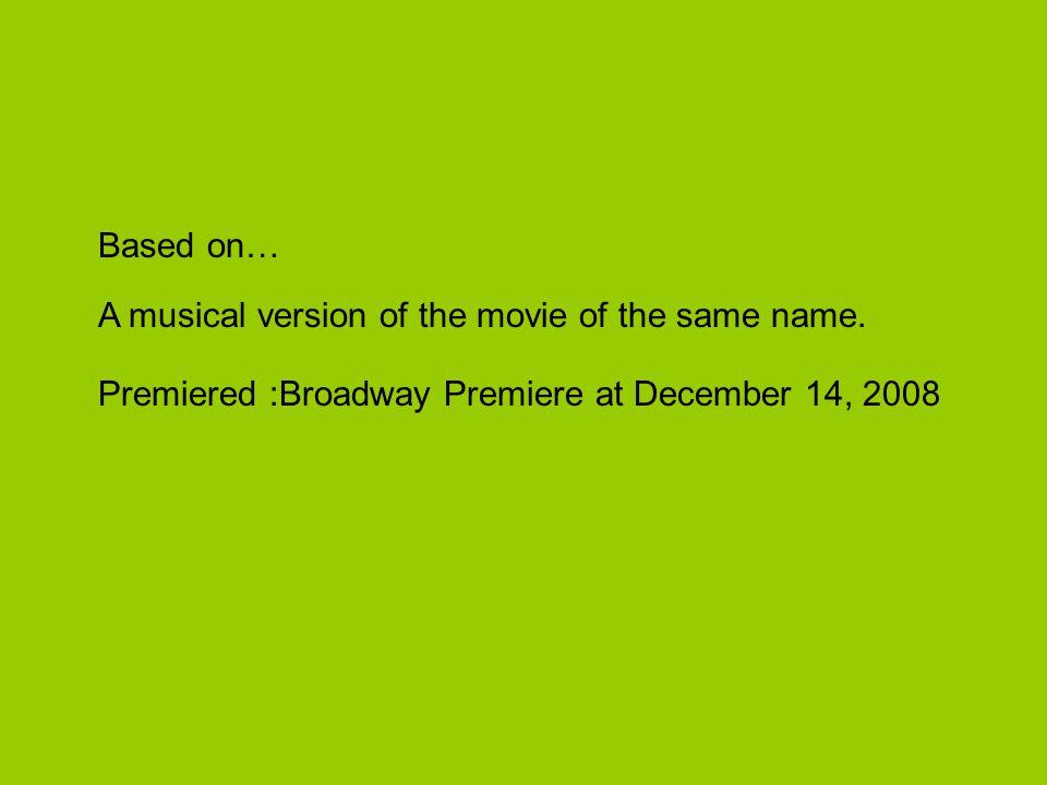 Shrek The Musical Composed By:Jeanine Tesori Lyricist:David Lindsay