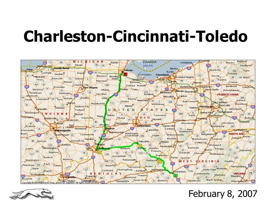 Charleston-Cincinnati-Toledo February 8, 2007