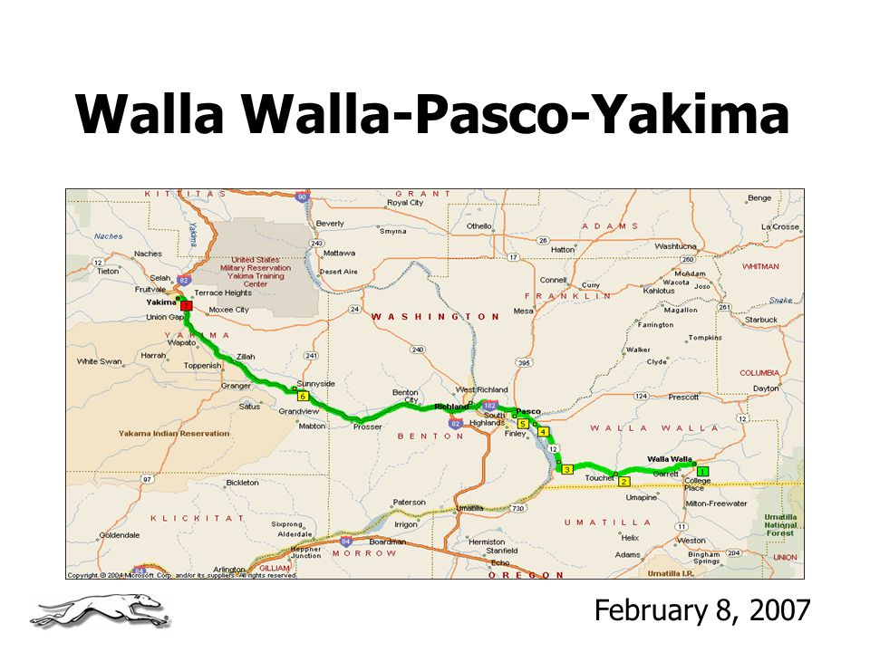 Walla Walla-Pasco-Yakima February 8, 2007