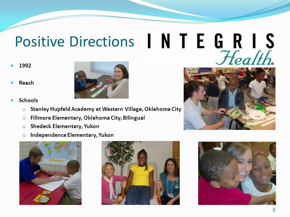 Positive Directions 1992 Reach Schools o Stanley Hupfeld Academy at Western Village, Oklahoma City o Fillmore Elementary, Oklahoma City, Bilingual o S