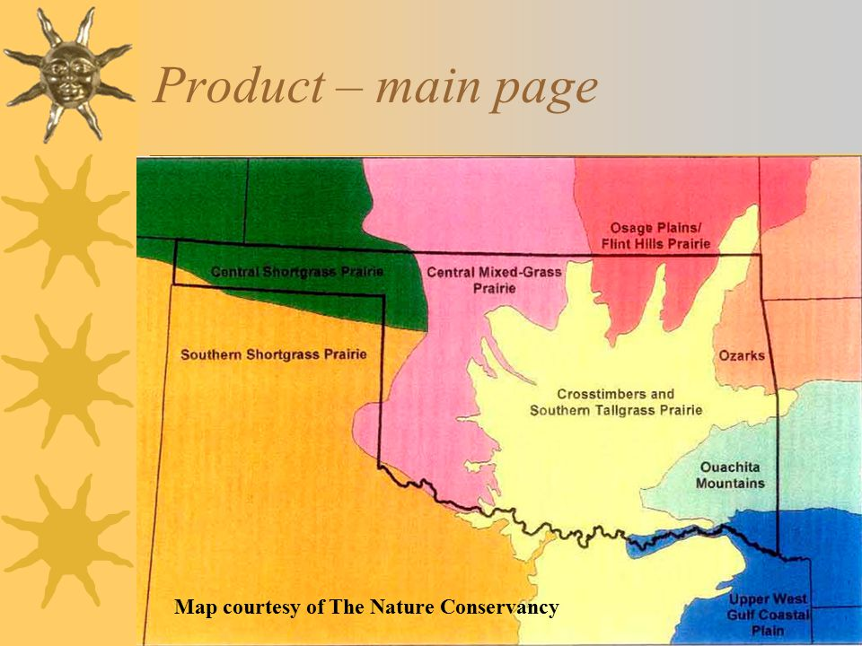 Product – main page Map courtesy of The Nature Conservancy
