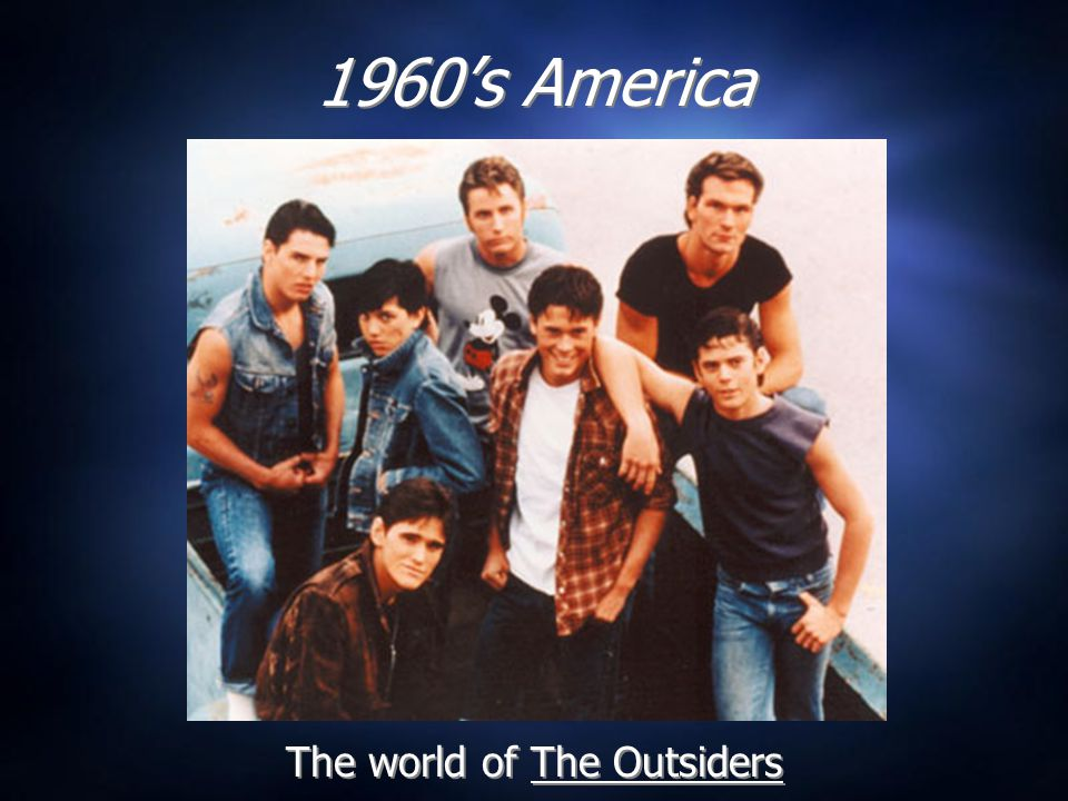 General Setting  The Outsiders presumably takes place in Tulsa, Oklahoma, where S.E.