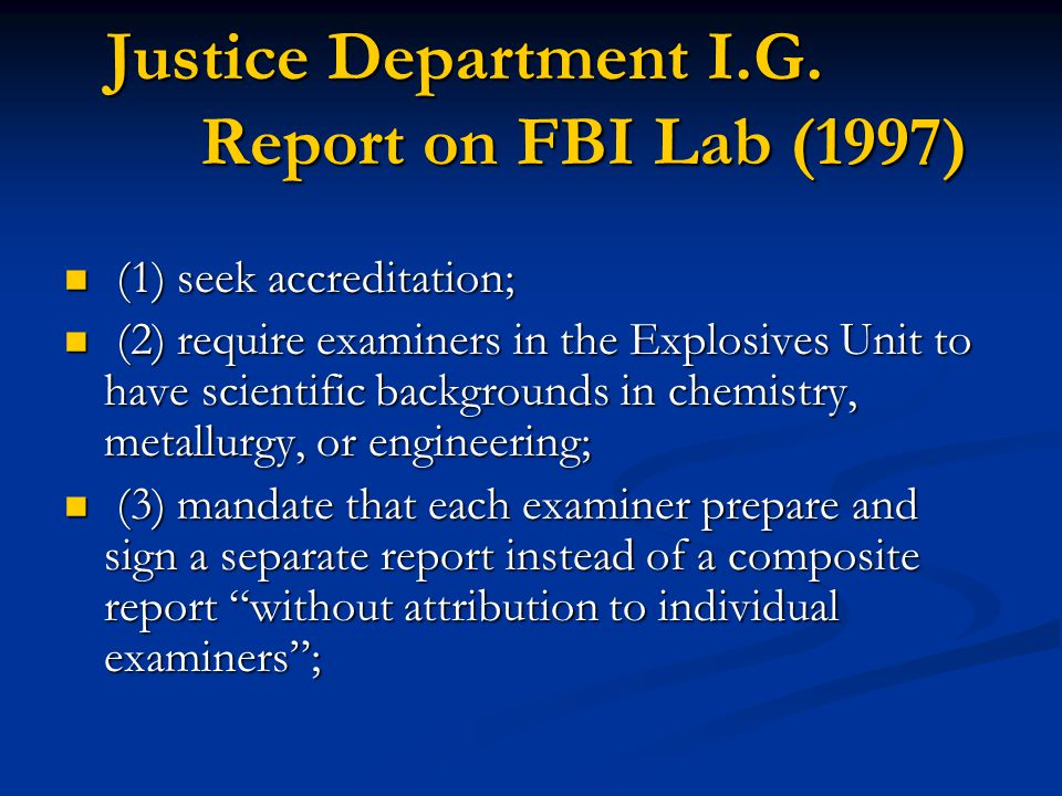 Justice Department I.G.