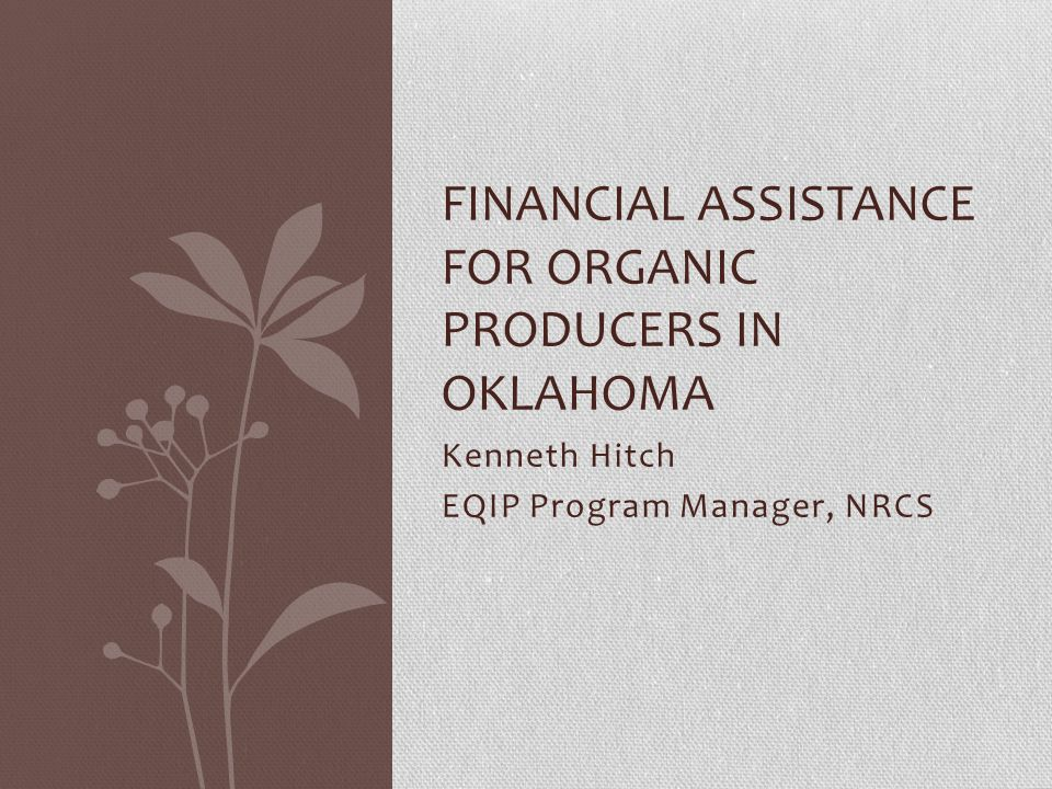 Who can Apply for Financial Assistance Agricultural Producers Must have records established with Farm Service Agency Must Meet basic Eligibility Requirements Must have a resource concern to be addressed.