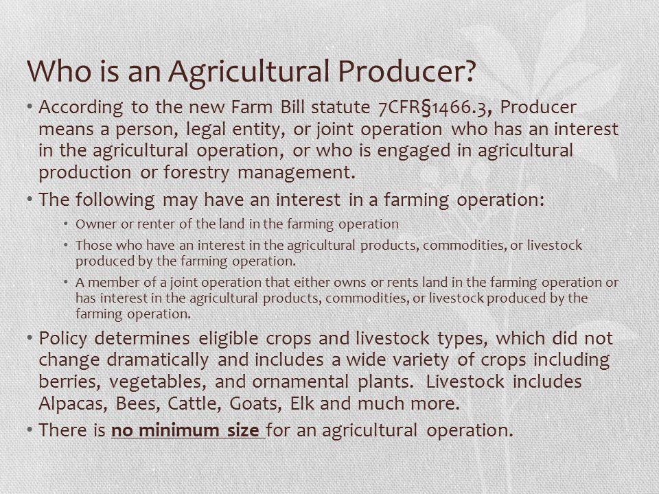 General information on the Organic Initiative The organic Initiative may address all resource concerns addressed under Regular EQIP.