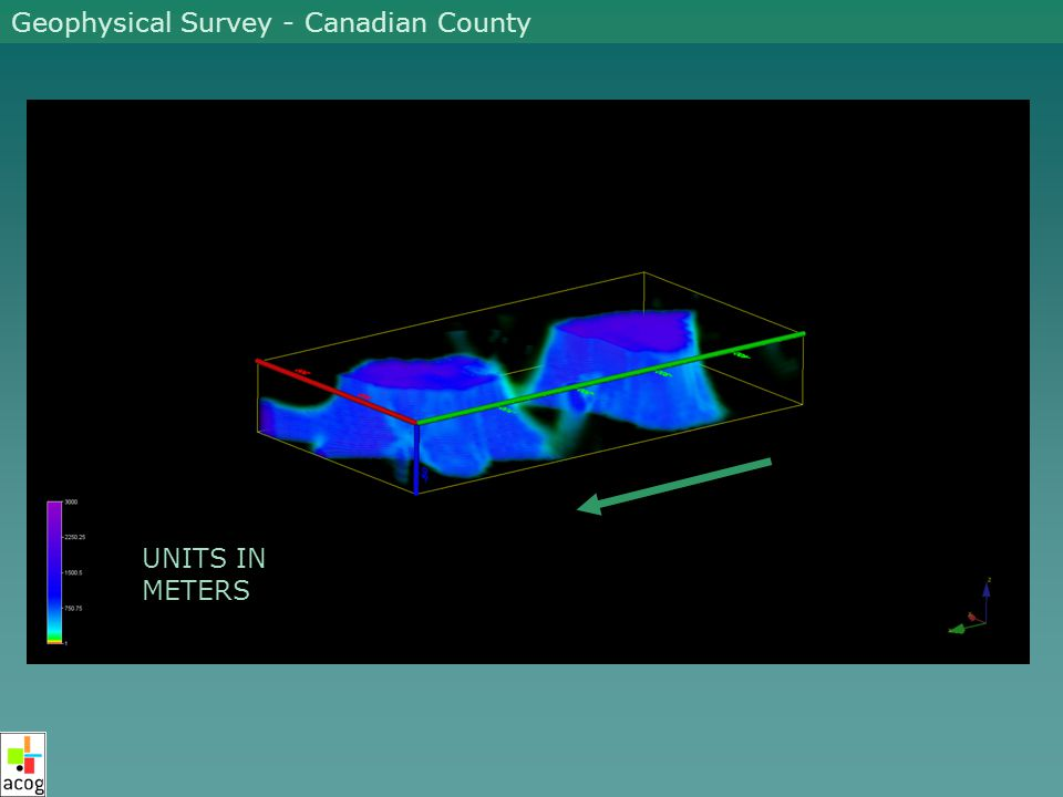 UNITS IN METERS Geophysical Survey - Canadian County