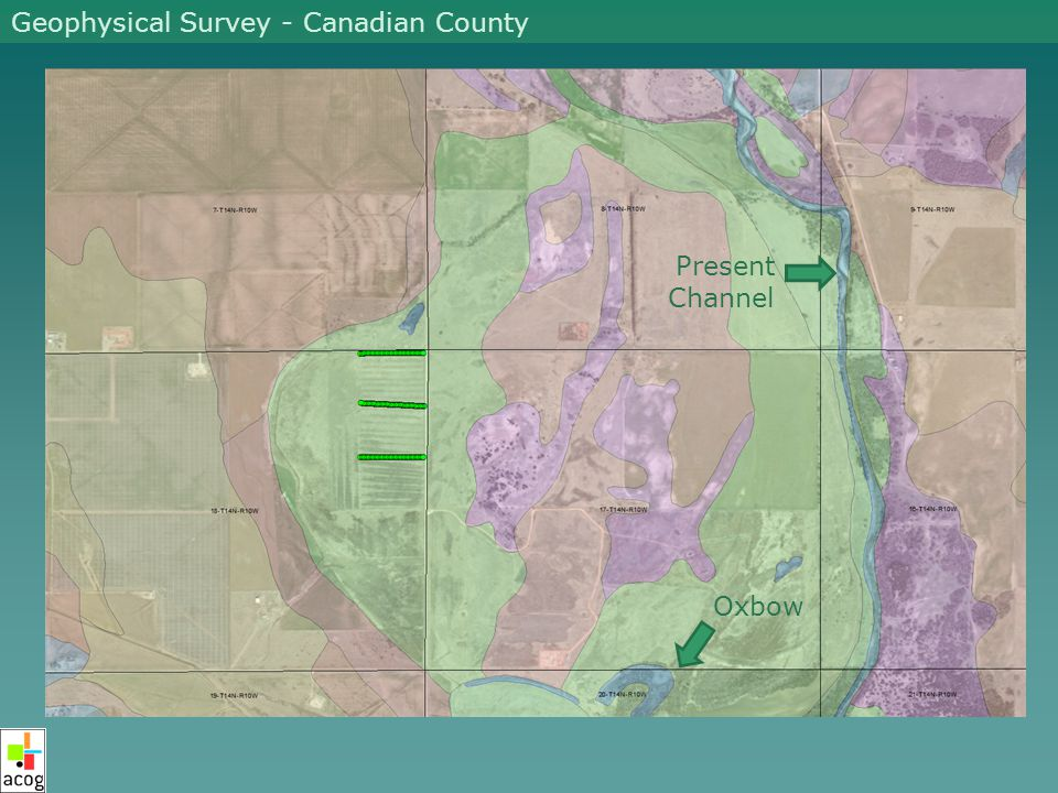 Present Channel Oxbow Geophysical Survey - Canadian County