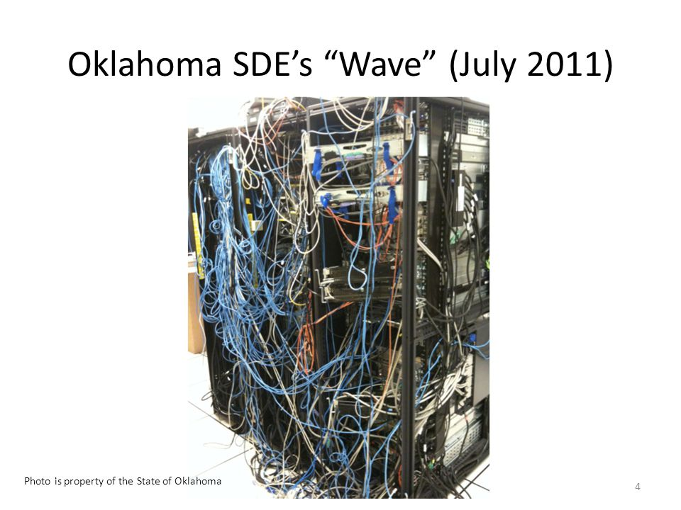 Oklahoma SDE's Wave (July 2011) 4 Photo is property of the State of Oklahoma