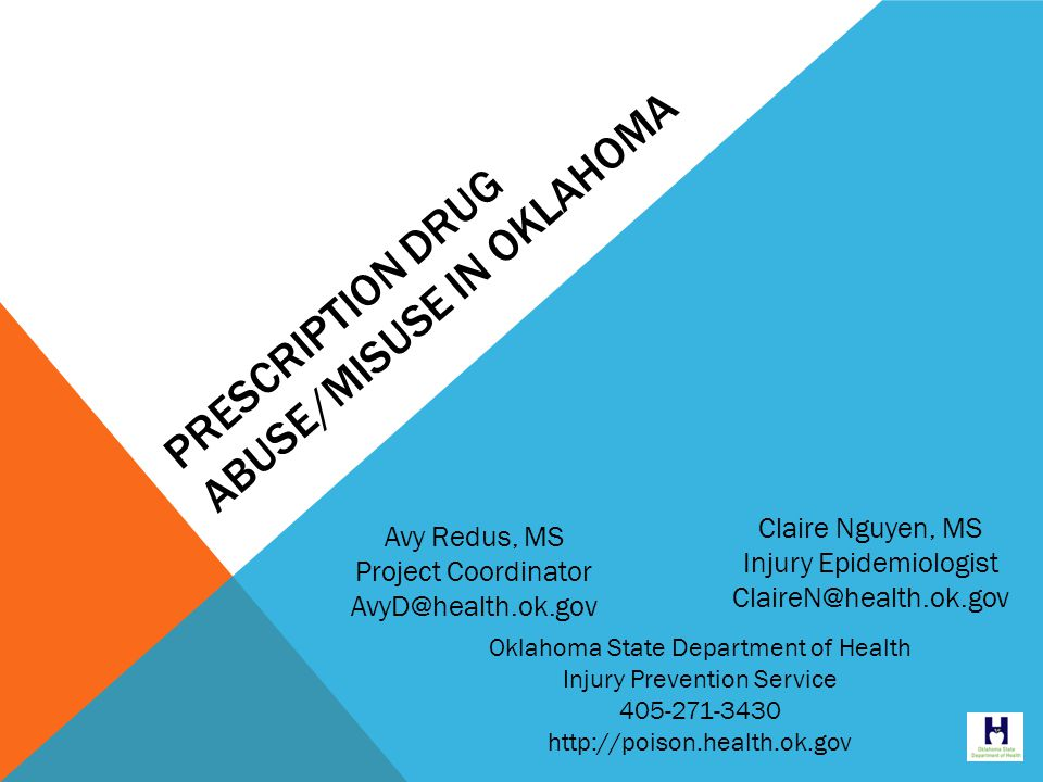SUBSTANCES INVOLVED IN UNINTENTIONAL POISONING DEATHS, OKLAHOMA, 2007-2012