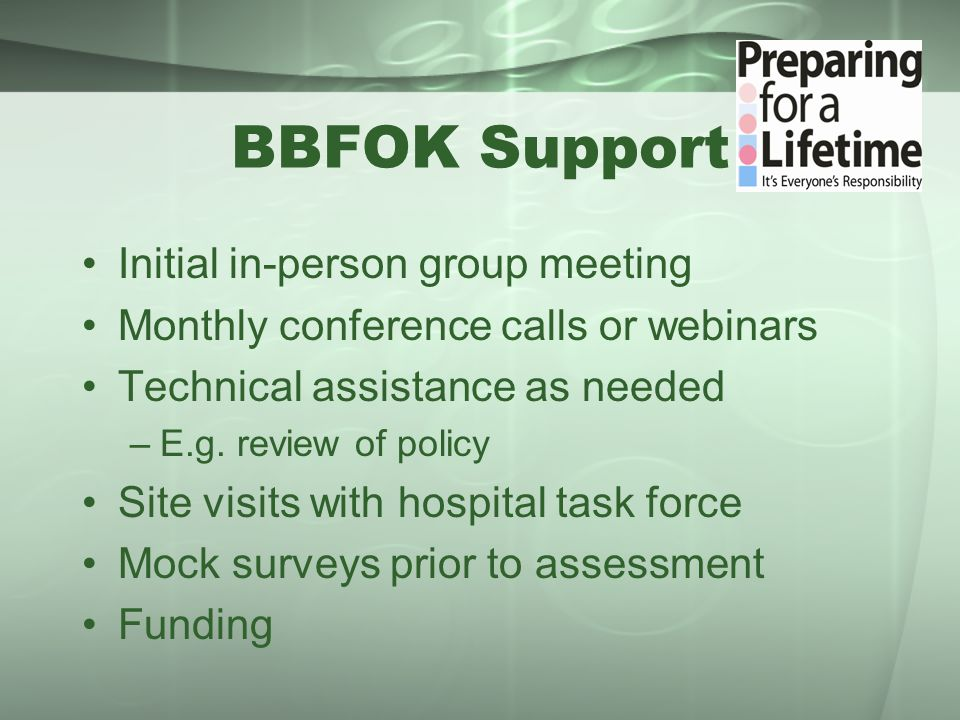 BBFOK Summit Friday, February 28, 2014 Samis Education Center, OUHSC campus Speakers: –Clifton Kenon, DNP, MSN, IBCLC, MCH Consultant for Office on Women's Health/Indian Health Service –Dr.