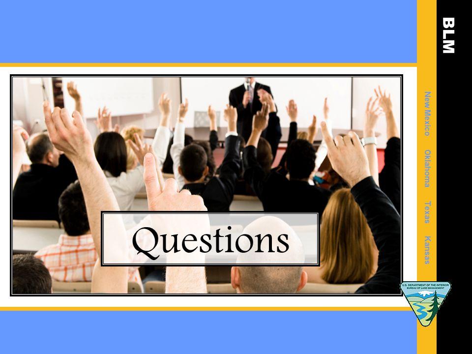 BLM New Mexico Oklahoma Texas Kansas Questions
