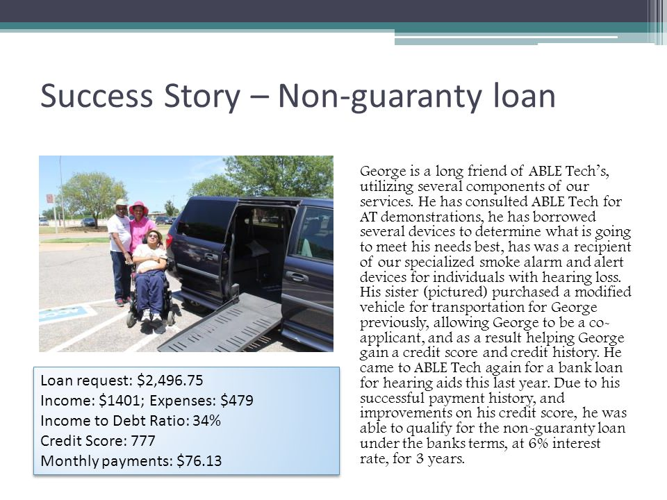 Success Story – Non-guaranty loan George is a long friend of ABLE Tech's, utilizing several components of our services.