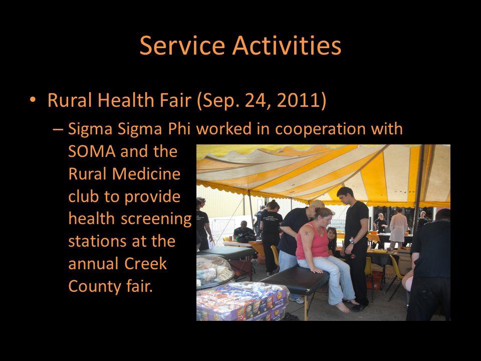 Service Activities Rural Health Fair (Sep.