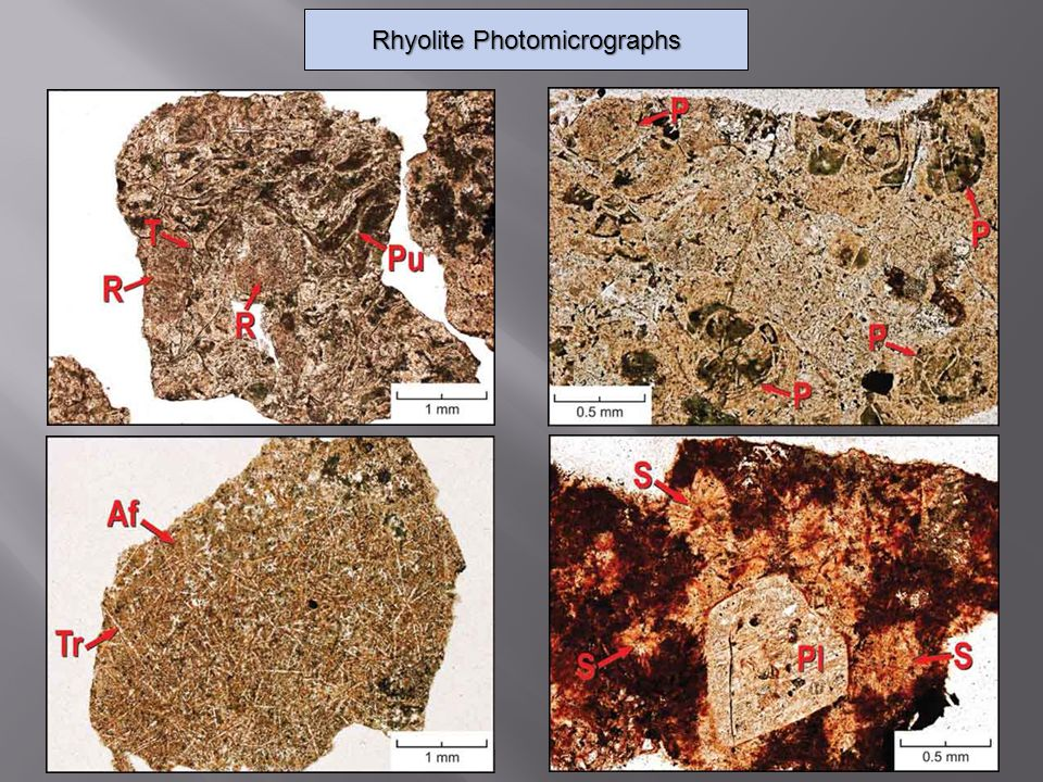 Rhyolite Photomicrographs