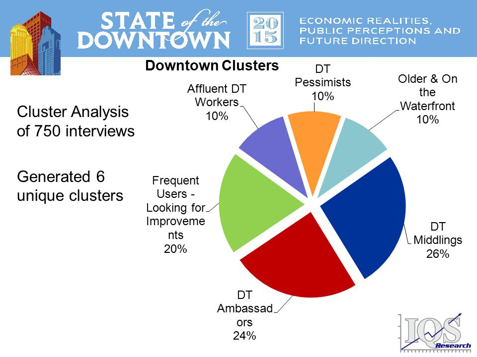 Cluster Analysis of 750 interviews Generated 6 unique clusters