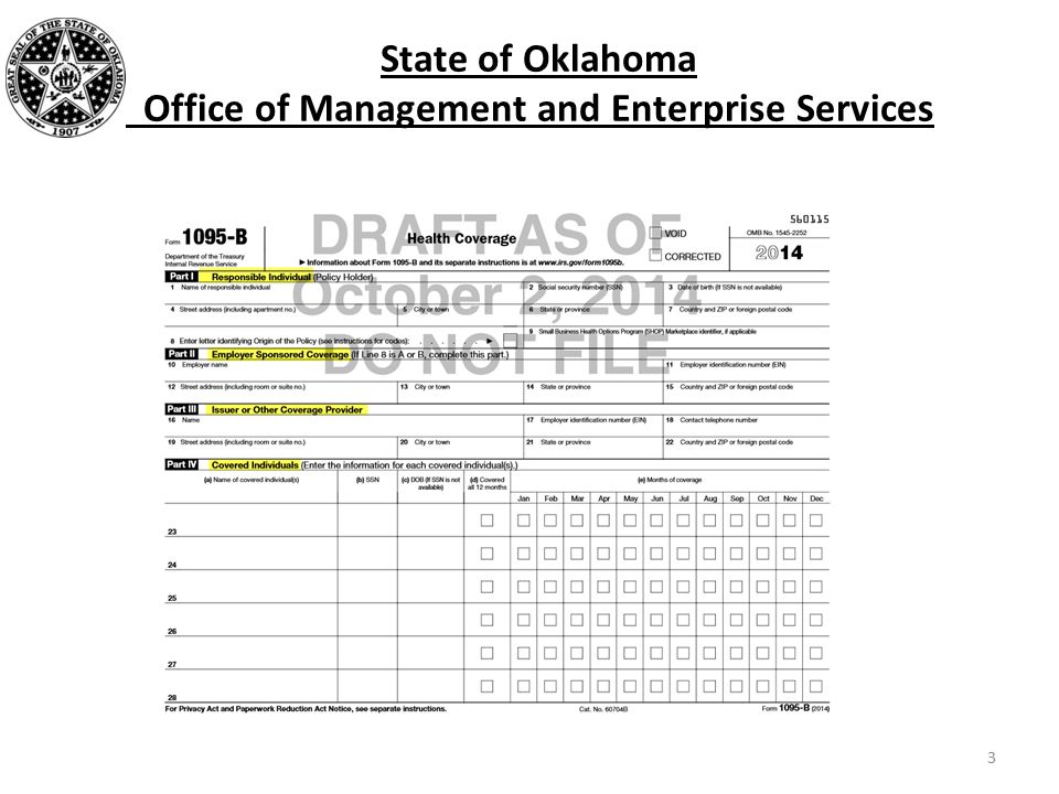 State of Oklahoma Office of Management and Enterprise Services 3