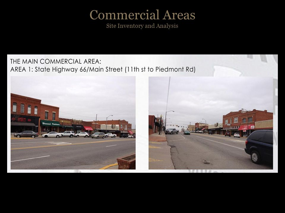 Commercial Areas Site Inventory and Analysis